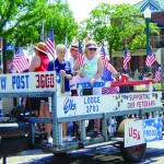 STARS AND STRIPES FOREVER was the theme of this year's Jubilee Days Celebration and many of the floats in the Grand Parade reflected this, including an entry by the VFW Post 3600 and the Warsaw Elks Club.