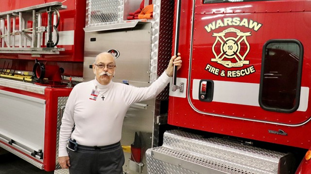 A NEW REGIONAL TRAINING FACILITY is in the future for the Warsaw Fire Protection District says Board Chairman Fred Toomey. A portion of the land will be donated.