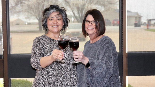 CHEERS! Benton County Community Foundation members Shannon Smith and Tracey Martin Spry are busy helping plan the organization's annual Wine Stroll. The event along with many others was cancelled last year due to the pandemic.