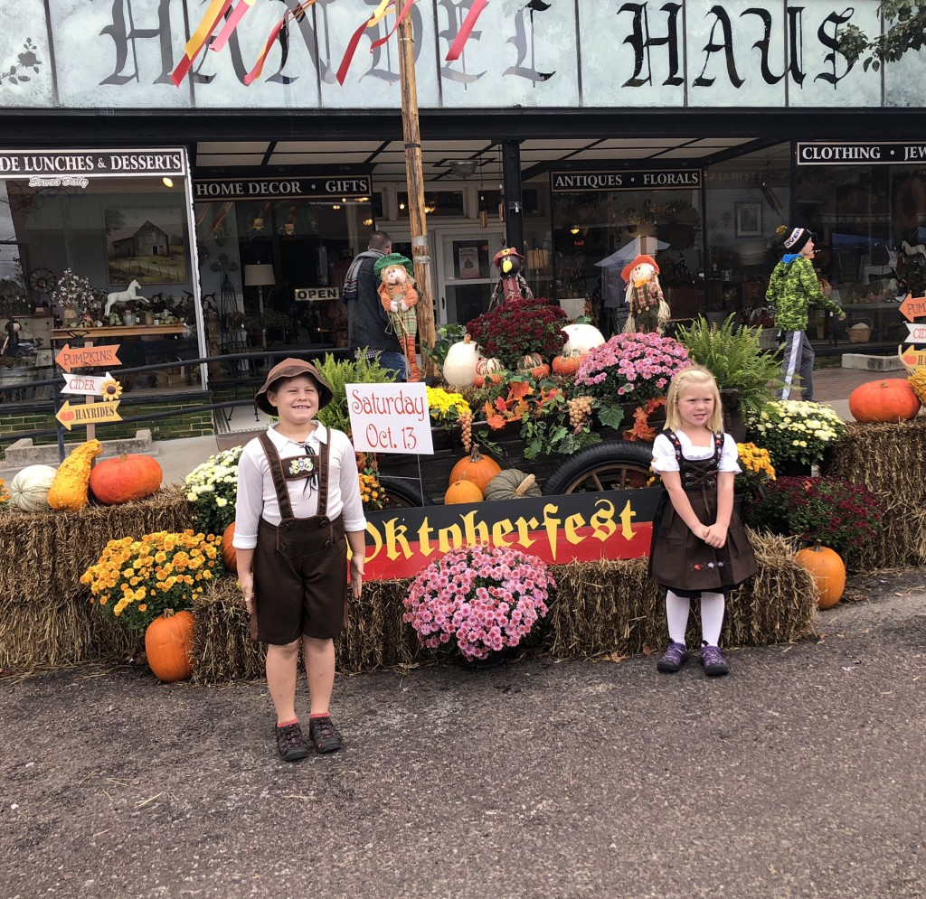 BRINGING DEUTSCHLAND TRADITION and fun to Cole Camp, Saturday's Oktoberfest was highly attended by folks across the county, including Colton and Maisy Balke.