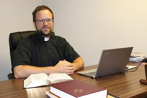 A NEW FACE for the congregation at Faith Lutheran Church in Warsaw, Pastor Carl Wendorff recently assumed his post.
