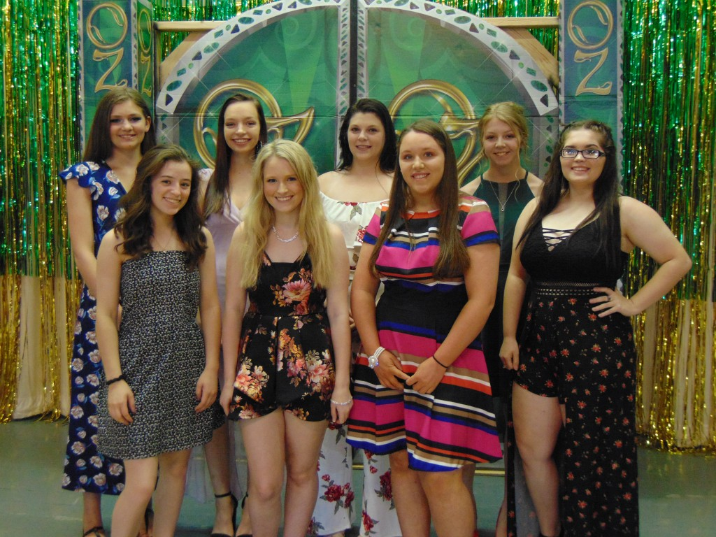 ONE OF THESE PRETTY YOUNG LADIES will be crowned Miss Jubilee Days on Thursday evening at the Warsaw Community Building during the annual Queen Contest. They are front row: Autumn Long, Jaidyn Estes and Donna Pitts. Back Row: Jolina Givens, Alexus Brown, Victoria Esser, Kaylee Lawson and Aubri Umlauf.