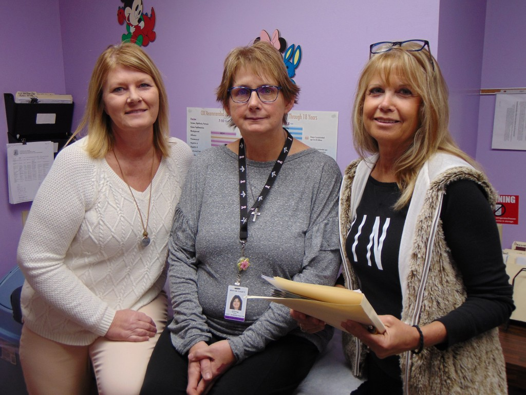 PART OF AN AWARD WINNING TEAM, Kelli Daleske, Gloria Smith and Tammie Heimsoth help keep the Benton County Health Department moving forward.