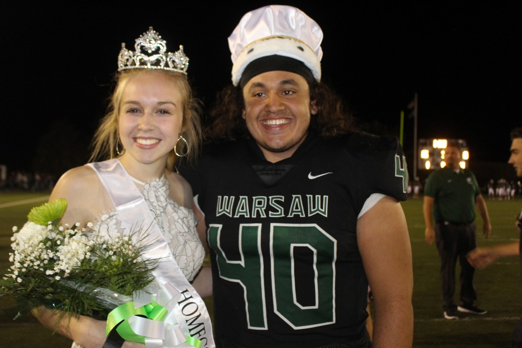 BEING ROYAL, Jessie Glenn and Eli Hawkins were crowned WHS Homecoming Queen and King during Friday evening's Annual Homecoming Ceremony