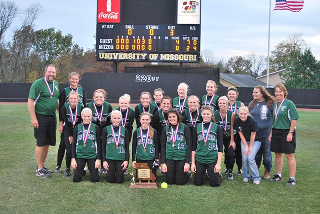The glory of their times. The 2010 WHS state Championship Softball team.Front Row, left to right.-Megan Palmer, Kelli Wenberg, Aubry Grenoble, Staci Williams, Haeley Kreisel. Middle Row- Brooklyn Hetherington, Jennifer Flores, Emily Twillegar, Danielle Stackhouse, Caitlyn Cooner, Kristina Strader,  Jessica Morales, Lori Meyers  Mgr. Back Row- Head Coach Steve Larson, Shawnah Kee, Cheyenne Murray, Chelsea Murphy,  Mackensie Wallace, Chelsea Cauthon, Mindi Zimmerly and  Assistant Coach Jackie Downing.