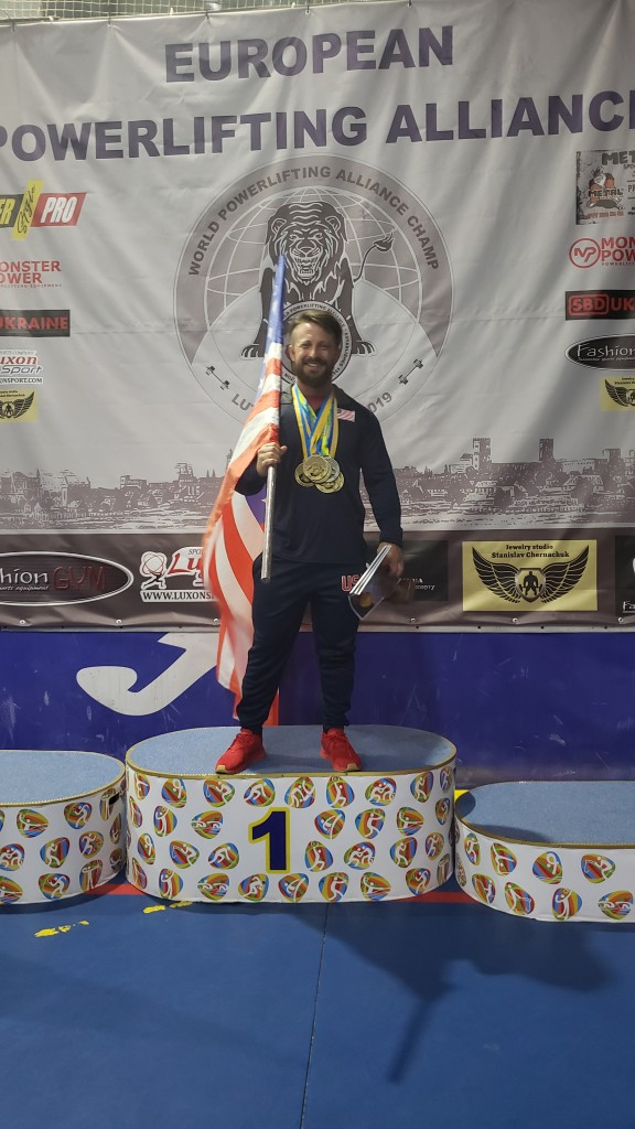 BRIAN PHILLIPS, WON SIX GOLD MEDALS in his recent trip to the Ukraine for the World power lifting competition. Phillips owns and operates Warsaw Fitness.